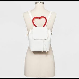 Mini backpack with heart handle